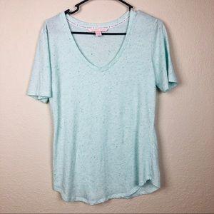 🆕 Victoria's Secret V-Neck Blue Speckle